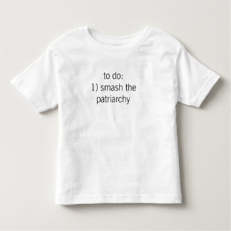 """T-shirt Pour Les Tous Petits """"fracas pièce en t du patriarcat"""" (enfant en bas"""