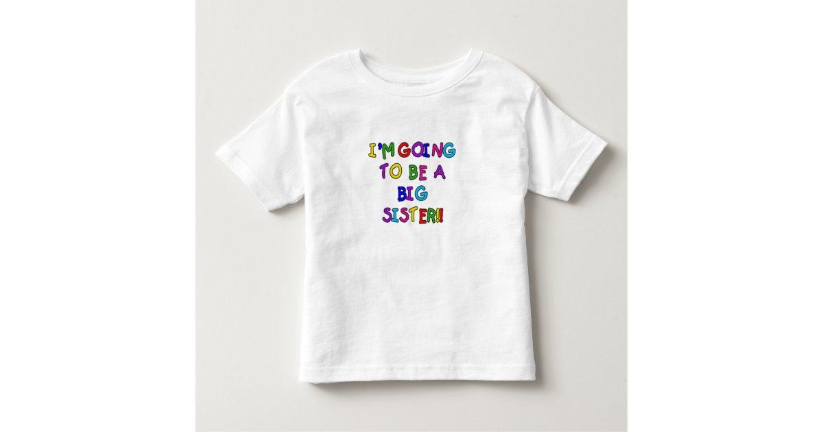 T Shirt Pour Les Tous Petits Future Grande Soeur Des Textes Zazzlefr