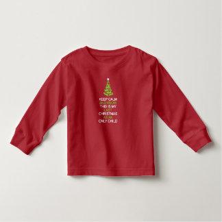 T-shirt Pour Les Tous Petits Gardez Noël calme et dernier en tant qu'enfant en