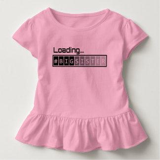 T-shirt Pour Les Tous Petits Grande soeur de chargement - rose
