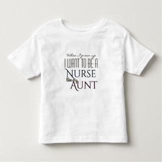 T-shirt Pour Les Tous Petits Grandissez pour être une infirmière comme la tante