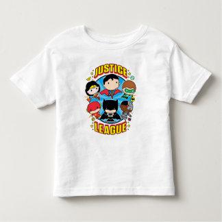 T-shirt Pour Les Tous Petits Groupe de ligue de justice de Chibi