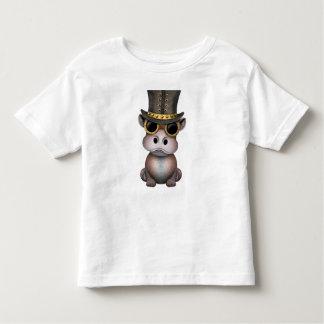 T-shirt Pour Les Tous Petits Hippopotame de bébé de Steampunk