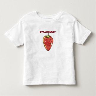 T-shirt Pour Les Tous Petits illustration de style de bande dessinée de fraise