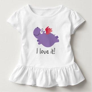 T-shirt Pour Les Tous Petits Illustration d'hippopotame de vol