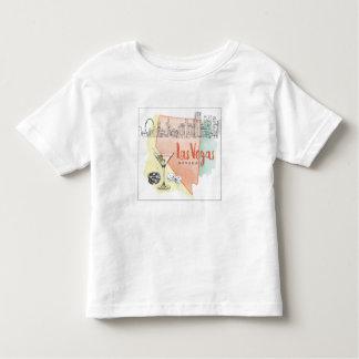 T-shirt Pour Les Tous Petits Image de croquis d'aquarelle de Las Vegas, Nevada