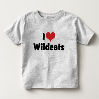 T-shirt Pour Les Tous Petits J'aime des chats sauvages de coeur