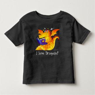 T-shirt Pour Les Tous Petits J'aime des dragons ! - Le dragon drôle de l'enfant