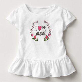 T-shirt Pour Les Tous Petits J'aime ma pièce en t de ruche du jour de mère de