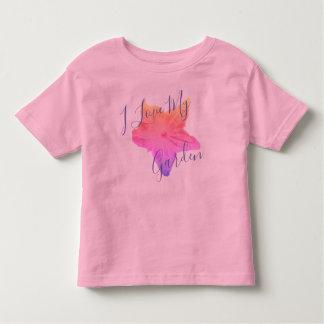 """T-shirt Pour Les Tous Petits """"Je chemise de fleur de concombre aime mon jardin"""""""