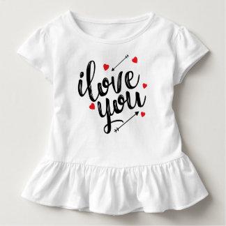 T-shirt Pour Les Tous Petits Je t'aime pièce en t simple de ruche de Valentine