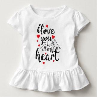 T-shirt Pour Les Tous Petits Je t'aime toute ma pièce en t de ruche de