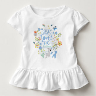 T-shirt Pour Les Tous Petits Jésus m'aime ceci que je connais la combinaison