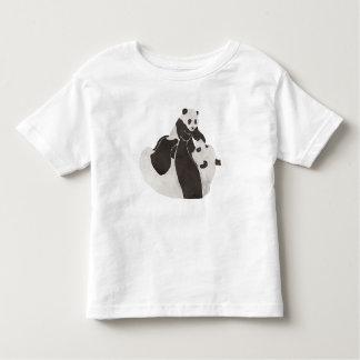 T-shirt Pour Les Tous Petits Jeu de panda de mère et de bébé