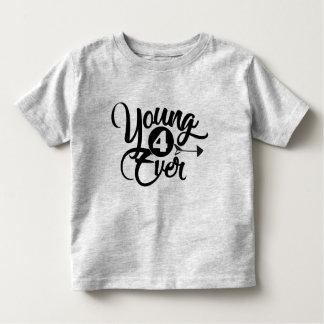 T-shirt Pour Les Tous Petits jeune pièce en t de l'anniversaire 4ever