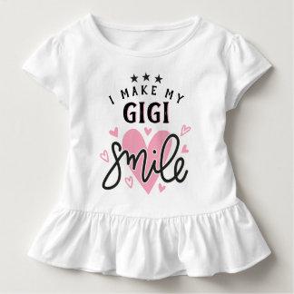 T-shirt Pour Les Tous Petits J'incite mon GiGi à sourire avec des coeurs