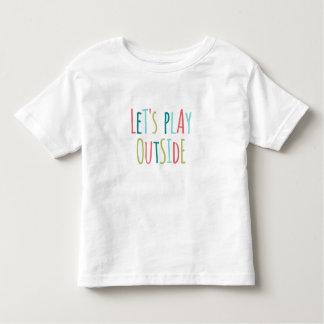 T-shirt Pour Les Tous Petits Jouons dehors