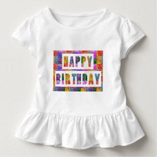 T-shirt Pour Les Tous Petits JOYEUX ANNIVERSAIRE : L'artiste a créé la couleur