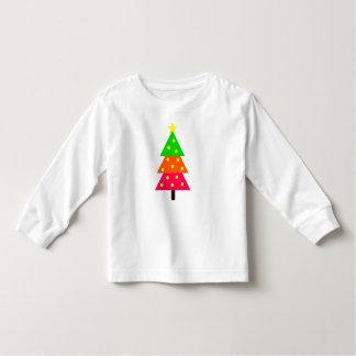 T-shirt Pour Les Tous Petits Joyeux et lumineux arbre de Noël personnalisé