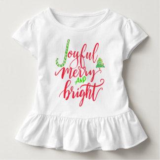T-shirt Pour Les Tous Petits Joyeux et lumineux manuscrit rouge joyeux de
