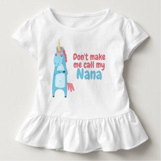T-shirt Pour Les Tous Petits La licorne rose et bleue impertinente vous avertit