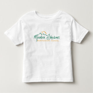 T-shirt Pour Les Tous Petits La montagne ombrage la pièce en t gainée par short