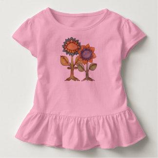 T-shirt Pour Les Tous Petits La terre rit avec des fleurs