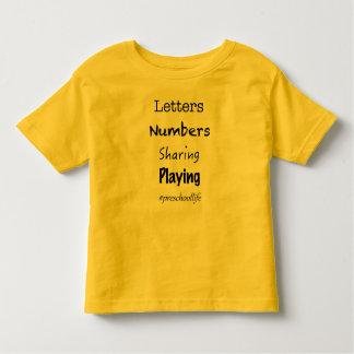T-shirt Pour Les Tous Petits La vie préscolaire