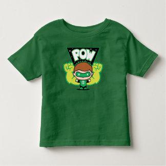 T-shirt Pour Les Tous Petits Lanterne verte de Chibi formant les poings géants