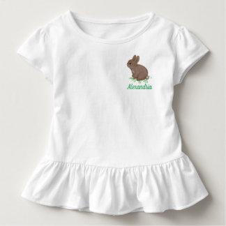 T-shirt Pour Les Tous Petits Lapin adorable dans le trèfle avec le nom