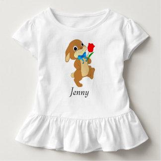 T-shirt Pour Les Tous Petits Lapin de Pâques de bébé avec le rose rouge