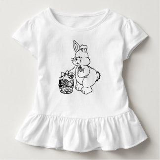 T-shirt Pour Les Tous Petits Lapin de Pâques mignon avec le panier d'oeuf de