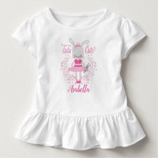 T-shirt Pour Les Tous Petits Lapin mignon de tutu personnalisé