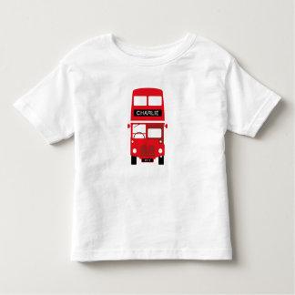 T-shirt Pour Les Tous Petits L'autobus rouge de Londres personnalisé badine le