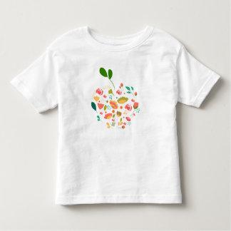 T-shirt Pour Les Tous Petits Le beau motif de fleurs coloré d'Apple