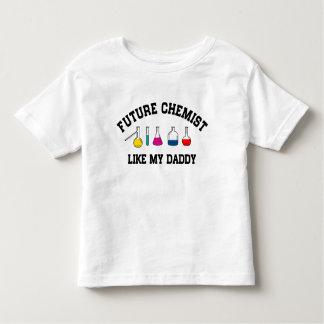 T-shirt Pour Les Tous Petits Le futur chimiste aiment mon papa