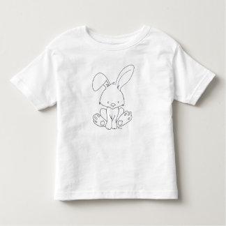 T-shirt Pour Les Tous Petits Le lapin de bébé, le colorent vous-même bébé de