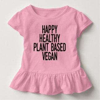 T-shirt Pour Les Tous Petits Le plante sain heureux a basé le végétalien (le