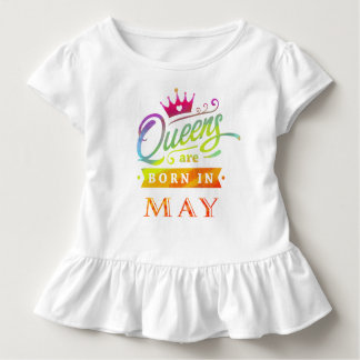 T-shirt Pour Les Tous Petits Le Queens sont en mai cadeau d'anniversaire né