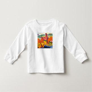 T-shirt Pour Les Tous Petits Les chevaux rouges par Franz Marc