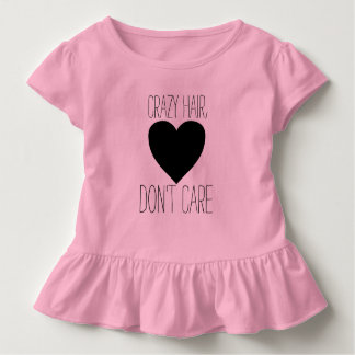 T-shirt Pour Les Tous Petits Les cheveux fous, ne s'inquiètent pas la chemise