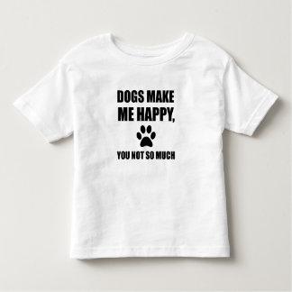 T-shirt Pour Les Tous Petits Les chiens vous rendent m'heureux pas tellement