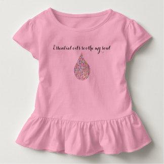 """T-shirt Pour Les Tous Petits """"Les huiles essentielles fille d'enfant en bas âge"""