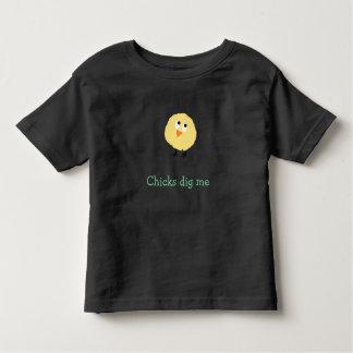 T-shirt Pour Les Tous Petits Les poussins me creusent chemise d'enfant en bas