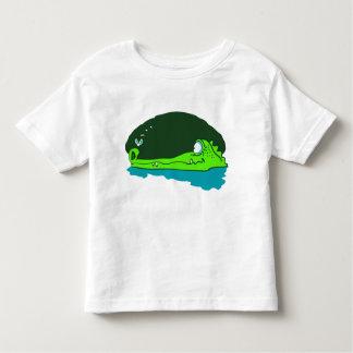 T-shirt Pour Les Tous Petits les wathes drôles de crocodile pilotent la bande