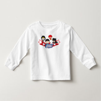 T-shirt Pour Les Tous Petits Ligue de justice de Chibi des étoiles de
