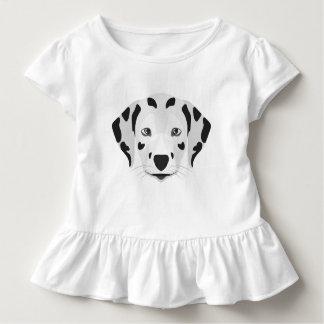 T-shirt Pour Les Tous Petits L'illustration poursuit le Dalmate de visage