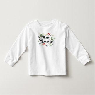 T-shirt Pour Les Tous Petits Longues douilles de conception écervelée espiègle