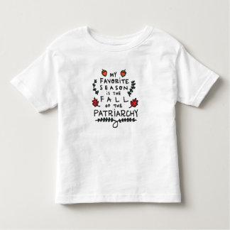 T-shirt Pour Les Tous Petits Ma saison préférée est l'automne du patriarcat