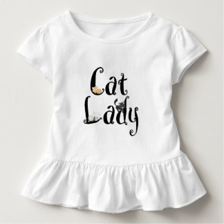T-shirt Pour Les Tous Petits Madame Girls Ruffle Shirt de chat